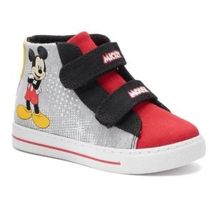 Boys Disney Mickey Mouse High Top Sneakers-sz 11